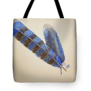 Blue Jay Feathers Tote Bag