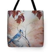 Blue Jay - Geai Bleu Tote Bag