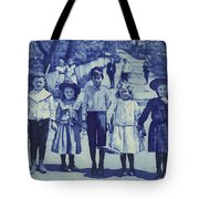 Blue Kids Tote Bag