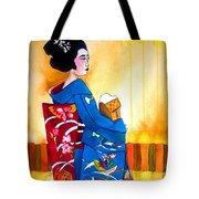 Blue Kimono 2 Tote Bag