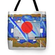Blue Kimono Tote Bag