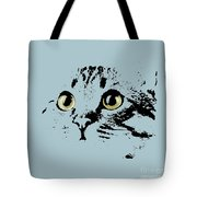 Blue Kitten Portrait Tote Bag