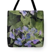 Blue Lace Tote Bag