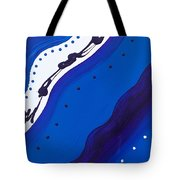 Blue Lace Tote Bag