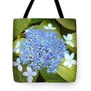 Blue Lacecap Hydrangeas Tote Bag