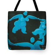 Blue Ladies Dance By The Night Tote Bag