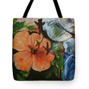 Blue Lady Collage Tote Bag