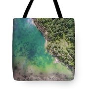 Blue Laggon See From Above In Old Sand Mine In Poland. Tote Bag