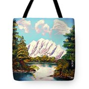 Blue Lake Mirror Reflection - Elegance With Oil Tote Bag
