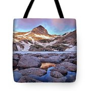 Blue Lake Sunrise Tote Bag