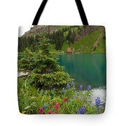 Blue Lakes Summer Portrait Tote Bag