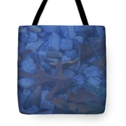 Blue Leaf Tote Bag