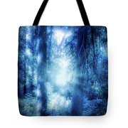 Blue Lights Tote Bag