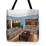 Blue Living Room Tote Bag