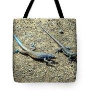 Blue Lizards Tote Bag