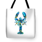 Blue Lobster Art By Sharon Cummings Tote Bag