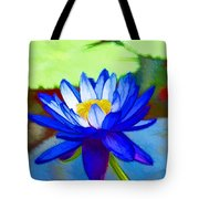 Blue Lotus Flower Tote Bag