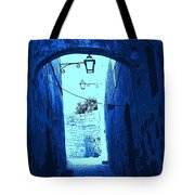 Blue Maltese Arch Tote Bag
