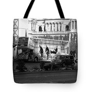 Blue Man Group On Bus Tote Bag