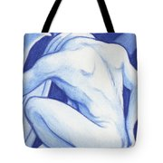Blue Man Study Tote Bag