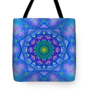 Blue Mandala For Heart Chakra Tote Bag