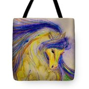 Blue Mane And Tail Tote Bag