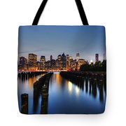 Blue Manhattan Tote Bag