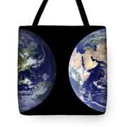 Blue Marble Composite Images Generated By Nasa Tote Bag