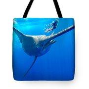 Blue Marlin Magic Tote Bag