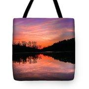 Blue Marsh Lake Sunset Tote Bag