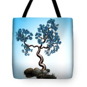 Blue Math  Tree 2 Tote Bag by GuoJun Pan