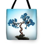 Blue Math  Tree Tote Bag