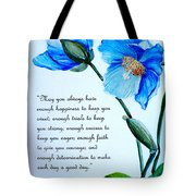 Blue Meconopsis Poppy Tote Bag
