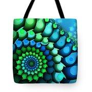 Blue Meets Green Tote Bag