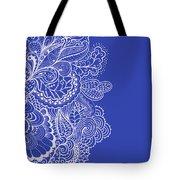 Blue Mehndi Tote Bag