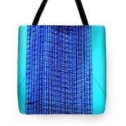 Blue Metal Mesh Tote Bag