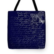 Blue Midnight Butterfly Tote Bag