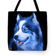 Blue Modern Siberian Husky Dog Art - 6024 - Bb Tote Bag