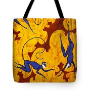 Blue Monkeys No. 45 Tote Bag
