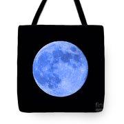 Blue Moon Close Up Tote Bag