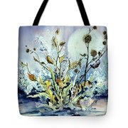 Blue Moon Floral Tote Bag