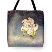 Blue Moon Flower Tote Bag