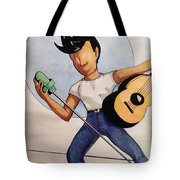 Blue Moon Tote Bag by Loretta Nash