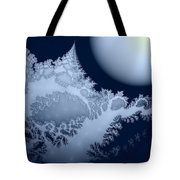 Blue Moon Out My Window Tote Bag