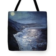 Blue Moon Over Big Sur Tote Bag