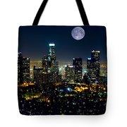 Blue Moon Over L.a. Tote Bag