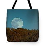 Blue Moon Risign Tote Bag