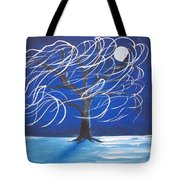 Blue Moon Willow In The Wind Tote Bag