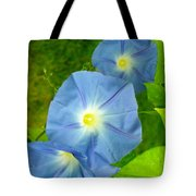 Blue Morning Glories Tote Bag