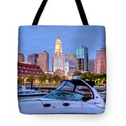 Blue Morning On Boston Harbor Tote Bag by Susan Cole Kelly